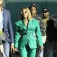 Exclusif - Beyoncé, Jay Z et leur fille Blue Ivy quittent le Hard Rock Stadium à l'issue du 54 ème Super Bowl à Miami, le 2 février 2020.