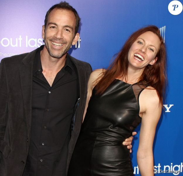 Bryan Callen et sa femme Amanda lors de l'avant-première du film About Last Night dans lequel il jouait, le 11 février 2014 à Los Angeles.