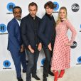 Tim Meadows, Bryan Callen, Brett Dier et AJ Michalka au Disney ABC TCA Winter Press Tour 2019 en février 2019 à Pasadena, Los Angeles. © O'Connor/AFF-USA.com