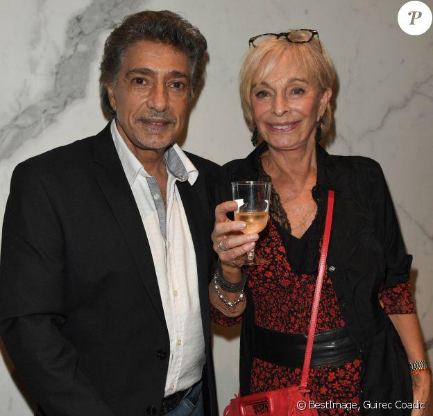 Exclusif - Frédéric François et sa femme Monique - Frédéric François fête ses 50 ans de carrière avec un concert au Grand Rex à Paris et une tournée en France le 12 octobre 2019 © Guirec Coadic / Bestimage