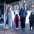 Exclusif - Exclusif - Scott Disick, sa compagne Sofia Richie et ses enfants Penelope et Mason ont été aperçus dans les rues d'Aspen dans le Colorado, le 31 décembre 2019.
