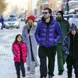Exclusif - Scott Disick, sa compagne Sofia Richie et ses enfants Penelope et Mason ont été aperçus dans les rues d'Aspen dans le Colorado, le 31 décembre 2019.