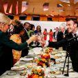 Brigitte Macron, Première dame et son mari Emmanuel Macron, président de la République française - Déplacement en Côte d'Ivoire - Dîner d'Etat offert par le président de la République de Côte d'Ivoire et sa femme en l'honneur du président de la République française et sa femme au Sofitel Hôtel Ivoire à Abidjan le 21 décembre 2019. © Dominique Jacovides / Bestimage
