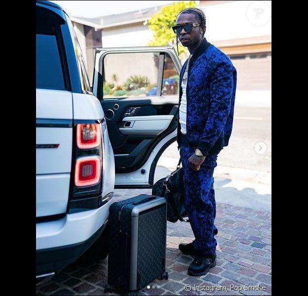 Le rappeur Pop Smoke à Beverly Hills, la veille de sa mort. Le 18 février 2020.