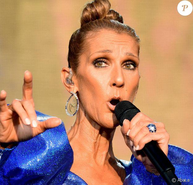 """Céline Dion en concert lors du """"2019 British Summer Time Festival"""" à Hyde Park. Londres, le 5 juillet 2019. @PA/PA Wire"""