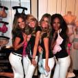 Alessandra Ambrosio, Lindsay Ellington, Marisa Miller et Emanuela de Paula, très craquantes lors des dix ans de la collection The Body, de Victoria's Secret, au Victoria's Secret Herald Square, à New York, le 11 août 2009 !