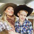 Hilary Duff et son fils Luca sur Instagram. Le 4 novembre 2019.