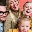 Hilary Duff, Matthew Koma, Luca et Banks sur Instagram. Le 29 novembre 2019.