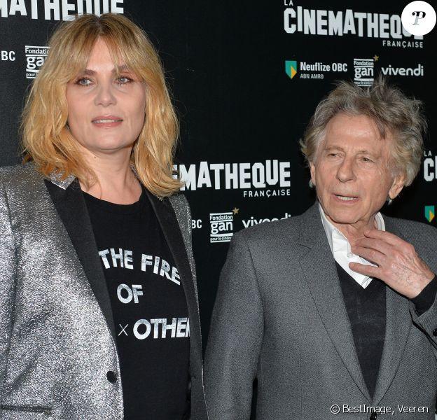 """Roman Polanski et sa femme Emmanuelle Seigner - Avant-première du film """"D'après une histoire vraie"""" de R. Polanski à la Cinémathèque Française à Paris, le 30 octobre 2017. © Veeren/CVS/Bestimage"""