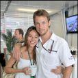 Jenson Button et sa compagne Jessica Michibata en mai 2009