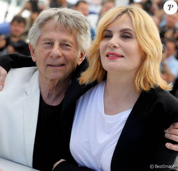 """Roman Polanski avec sa femme Emmanuelle Seigner au photocall de """"D'Après Une Histoire Vraie"""" lors du 70ème Festival International du Film de Cannes, le 27 mai 2017. © Borde-Jacovides-Moreau/Bestimage"""