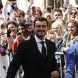 Katy Perry et son fiancé Orlando Bloom - Les invités arrivent au mariage de E. Goulding et C. Jopling en la cathédrale d'York, le 31 août 2019