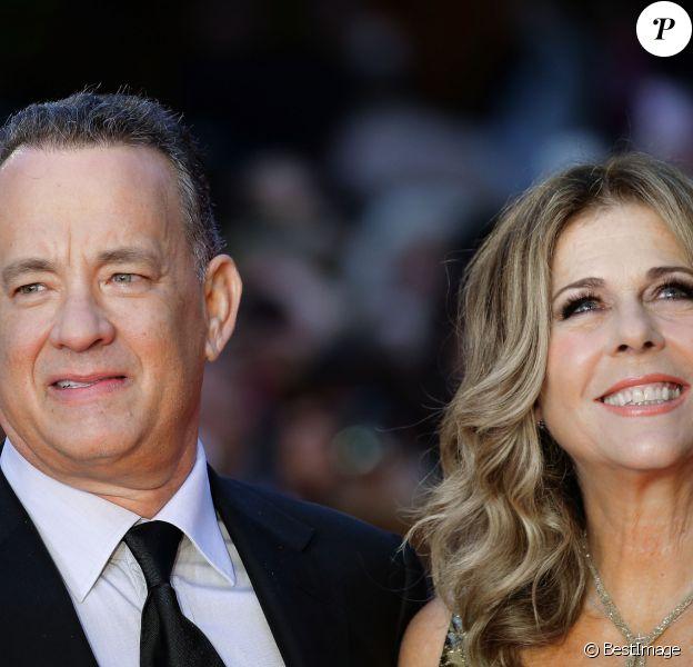 Tom Hanks et sa femme Rita Wilson sur le tapis rouge lors du 11ème Festival du Film de Rome à l'Auditorium à Rome, le 13 octobre 2016. © Evandro Inetti via ZUMA Wire/Bestimage