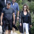 Exclusif - Tom Hanks et sa femme Rita Wilson prennent un verre au North Bondi RSL Club après une balade sur les quais à Sydney le 6 mars 2020.