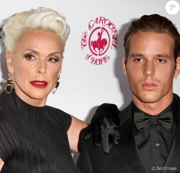 """Brigitte Nielsen avec son fils Douglas Aaron Meyer - Les célébrités arrivent à la soirée """"Carousel of Hope Ball"""" à l'hôtel Hilton à Beverly Hills le 6 octobre 2018."""
