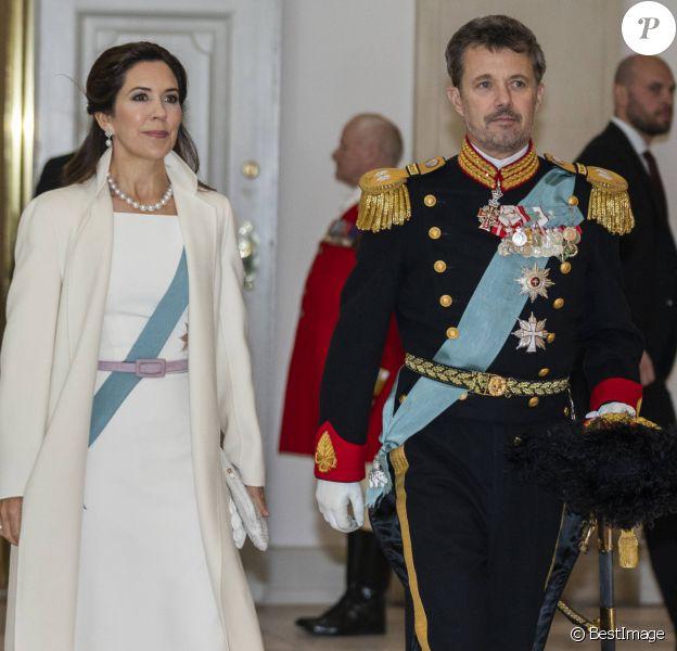 La princesse Mary de Danemark, le prince Frederik - La famille royale de Danemark lors de la cérémonie de voeux pour les corps diplomatiques au château de Christiansborg à Copenhague le 2 janvier 2019.