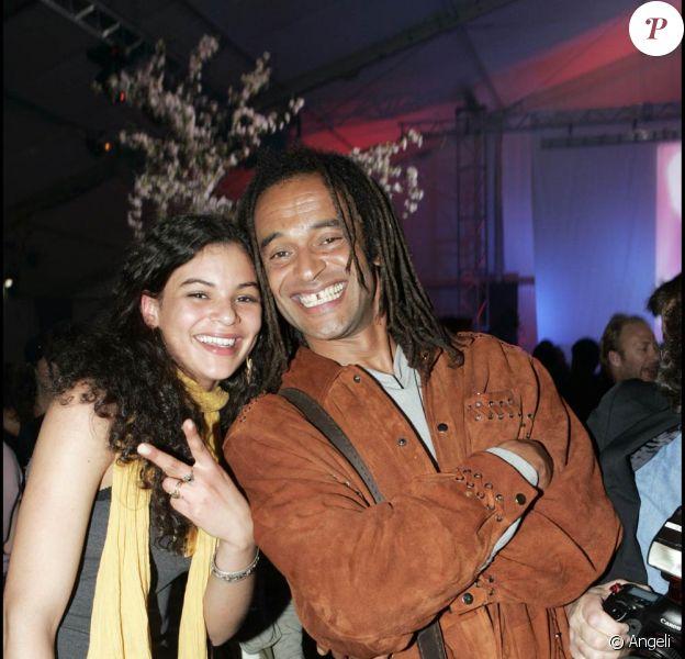 Yannick Noah avec sa fille Yelena