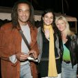 Yannick Noah avec sa fille Yelena  et sa compagne Isabelle Camus