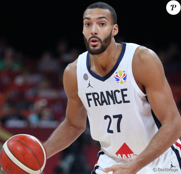 Rudy Gobert (France) - L'équipe de France de basket décroche le bronze à la Coupe du monde à Pékin, Chine, le 15 septembre 2019. © Sebastien Meunier/Panoramic/Bestimage