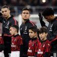 Christiano Ronaldo, Paulo Dybala, Juan Cuadrado et Blaise Matuidi (Juventus Turin) à Milan. Le 13 février 2020.
