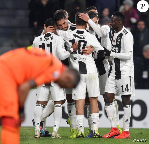 Paulo Dybala, Blaise Matuidi et la Juventus Turin affrontent le Chievo Vérone. Turin, le 21 janvier 2019.
