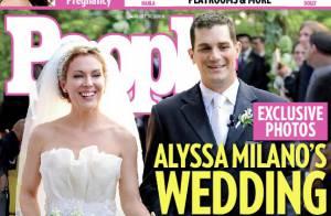 Alyssa Milano : Découvrez-la radieuse... dans sa robe de mariée !