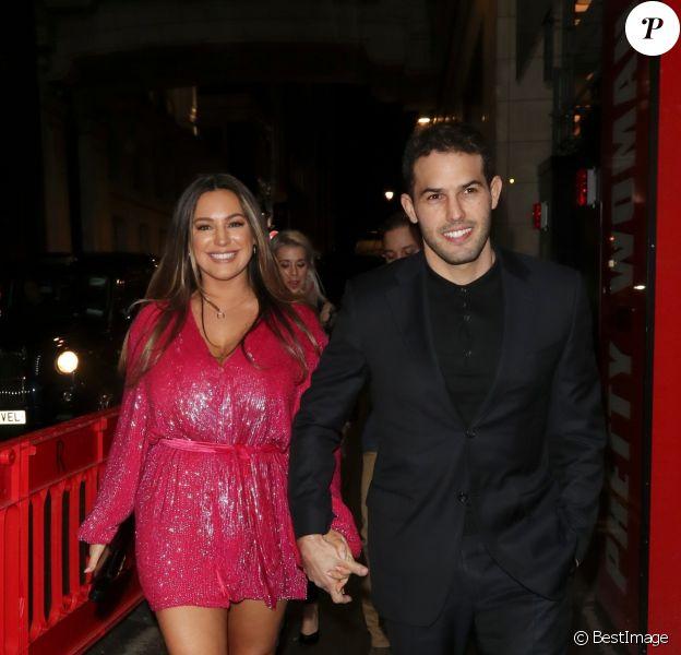 Kelly Brook et son fiancé Jeremy Parisi à Londres. Le 2 mars 2020.