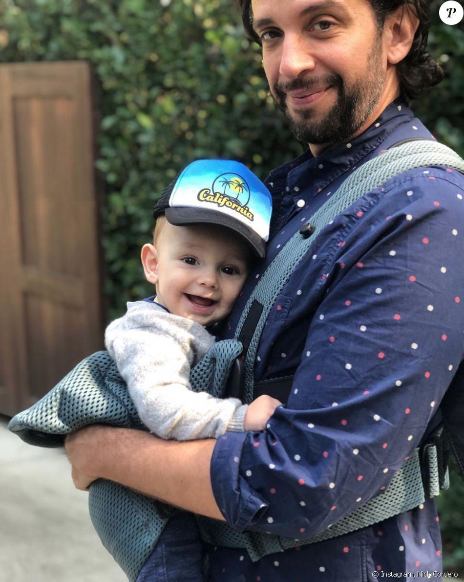 Nick Cordero et son fils. Janvier 2020.