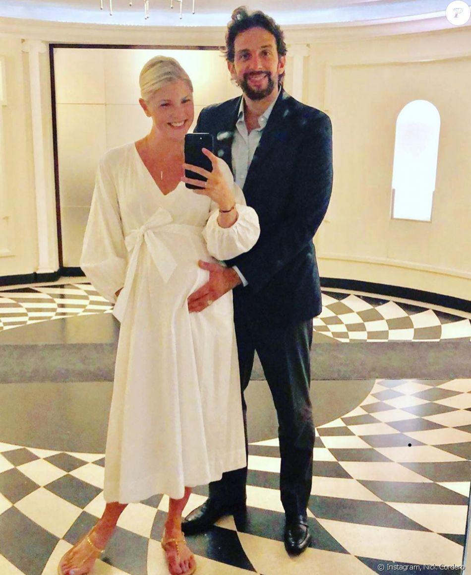 Nick Cordero et son épouse Amanda Kloots. Juin 2019.
