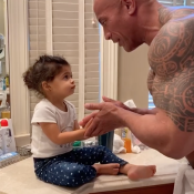 Dwayne Johnson : En confinement, il apprend les bons réflexes à sa fille Tiana