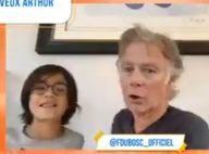 Franck Dubosc : Très rare apparition de ses fils en live avec Arthur