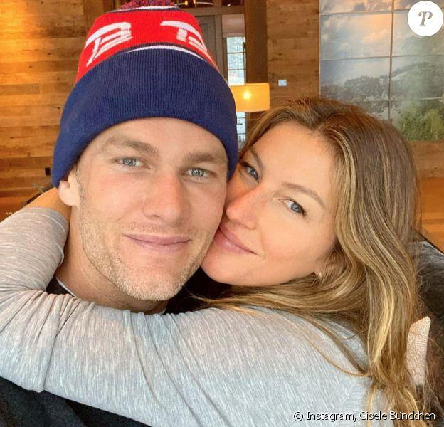 Gisele Bündchen et son mari Tom Brady. Février 2020.