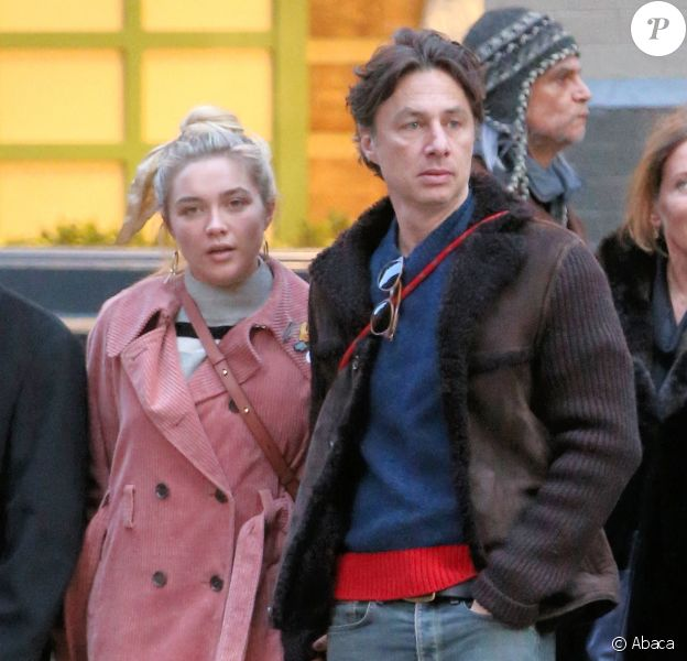 Florence Pugh et Zach Braff à New York le 8 décembre 2019.