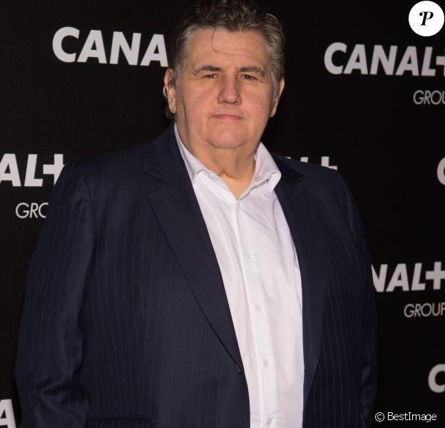 Pierre Ménès - Soirée des animateurs du Groupe Canal+ au Manko à Paris. Le 3 février 2016