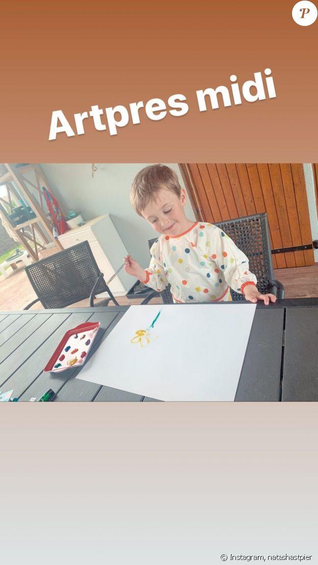Natasha St-Pier a partagé une nouvelle photo de son fils Bixente, sur Instagram, le 13 avril 2020.