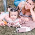 Carla Moreau et sa fille Ruby, le 12 avril 2020, sur Instagram