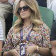 Kim Sears à Wimbledon le 6 juillet 2019.