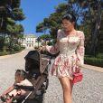 Kylie Jenner, Travis Scott et leur fille Stormi à l'Hôtel du Cap-Eden-Roc à Antibes. Le 14 août 2019.