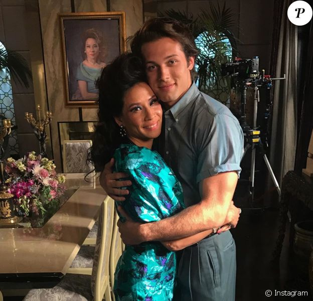 Leo Howard et Lucy Liu le 23 août 2019 sur Instagram.