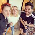 Kristen Stewart ose les cheveux oranges, sur Instagram, mars 2020.