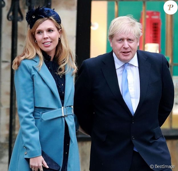 Boris Johnson (Premier ministre) et sa fiancée Carrie Symonds (enceinte) (enceinte) - La famille royale d'Angleterre lors de la cérémonie du Commonwealth en l'abbaye de Westminster à Londres le 9 mars 2020.  Annual Commonwealth Service at Westminster Abbey in London, March 9th 2020.09/03/2020 - Londres
