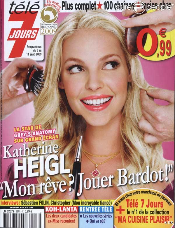 Katherine Heigl en couverture de Télé 7 Jours