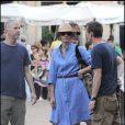 Julia Roberts sur le tournage de Eat, Pray, Love à Rome le 26 août 2009
