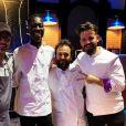 """Adrien Cachot, candidat de """"Top Chef 2020"""" pose avec son équipe et le chef Paul Pairet - Instagram, 20 février 2020"""