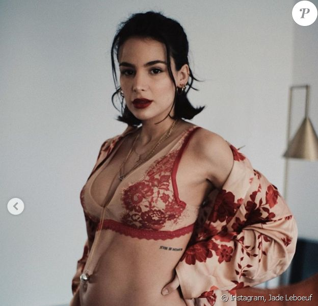 Jade Leboeuf, enceinte de son premier enfant et photographiée par son mari Stephane Rodrigues. Mars 2020.