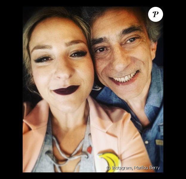 Marilou Berry et sa père Philippe Berry sur Instagram, le 11 mai 2017.