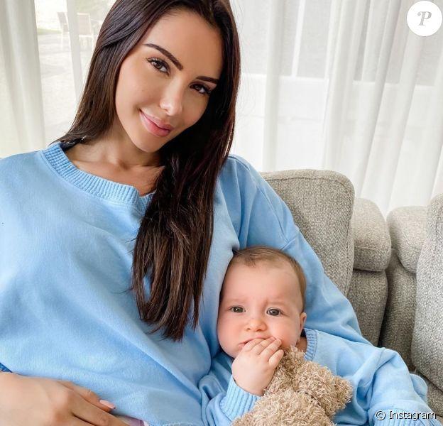 Nabilla Benattia avec son fils Milann, le 14 mai 2020, sur Instagram