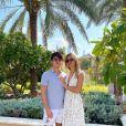 Dylan Deschamps, le fils de Didier Deschamps, avec sa compagne Mathilde le 23 juin 2019.