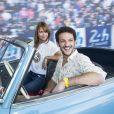 Axelle Laffont et Vincent Dedienne - Les invités de l'Automobile Club de l'Ouest aux 24 heures du Mans automobile 2015. Le Mans, le 13 juin 2015.