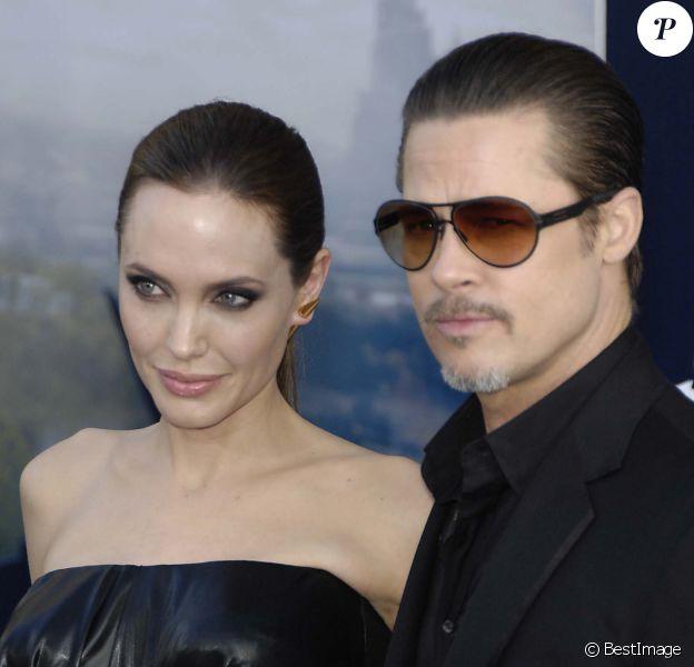 """Angelina Jolie et Brad Pitt - Première du film """"Maléfique"""" à Los Angeles, le 29 mai 2014."""